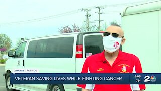 Claremore veteran saving lives while fighting cancer