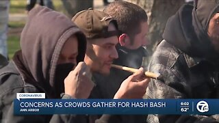 Concerns as crowds gather for Hash Bash in Ann Arbor