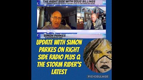 Simon Parkes on Right Side Radio & Q The Storm Rider