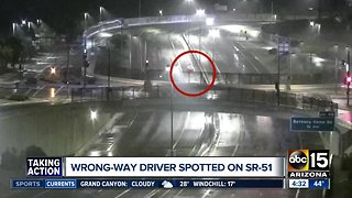 Wrong-way driver spotted on SR-51 early Sunday morning