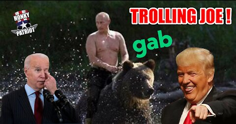 PRESIDENT TRUMP TROLLS BIDEN WITH A MESSAGE ON GAB ABOUT PUTIN AND THE G7 !