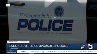 Escondido police upgrades policies
