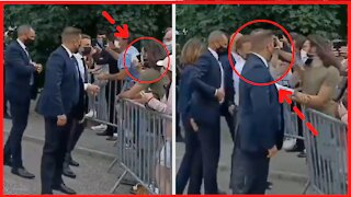 Another Angle Macron taking a slap - New Images