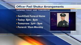 Flags to be lowered in honor of fallen Detroit Officer Fadi Shukur
