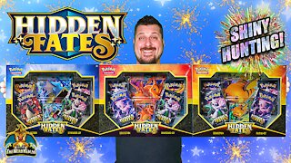 Hidden Fates Collection Box Set | Shiny Hunting | Pokemon Cards Opening