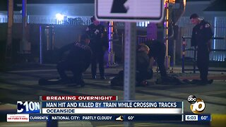 Man hit, killed by train while crossing tracks in Oceanside