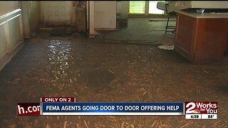 FEMA going door to door offering help