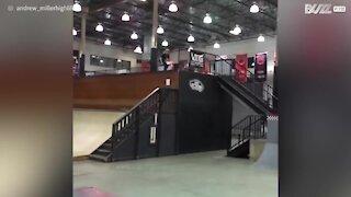 Quando perdi lo skateboard nel bel mezzo di un salto