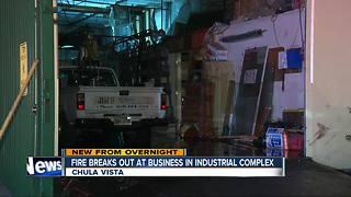 Fire tears through Chula Vista business