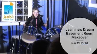 Jasmine's Dream Basement Room Makeover l Jamie's Dream Team l Nov 25 2013
