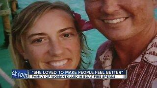 Family of woman killed in boat fire speaks