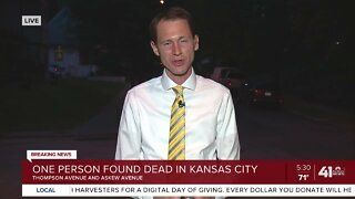 One person found dead in Kansas CIty