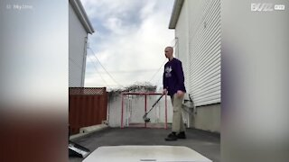 Have you ever seen trick shots of this caliber played with a hockey stick?