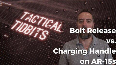 Tactical Tidbits Episode 16: Charging Handle vs. Bolt Release on an AR-15