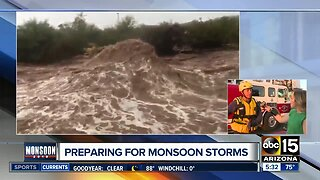 Arizona officials preparing for monsoon storms