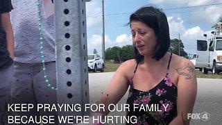 Mother of Layla Aiken visits her daughter's memorial