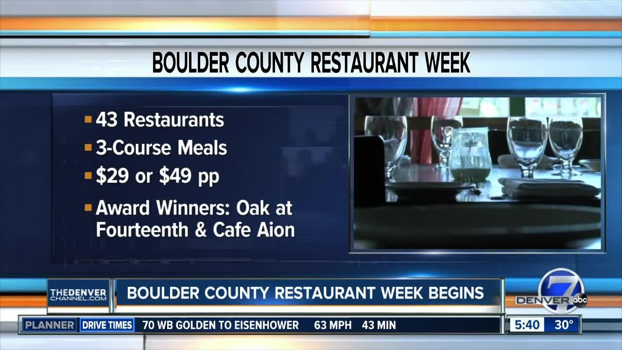 Boulder County Restaurant Week starts today