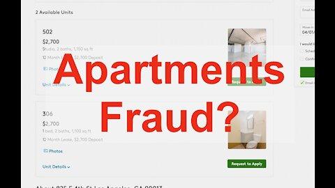 Rental Fraud on Craigslist and Apartment Websites