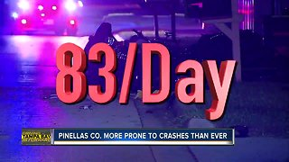 Pinellas County averages 77 car crashes a day