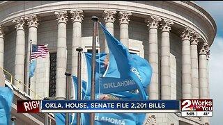 Oklahoma House, Senate file 2,201 bills