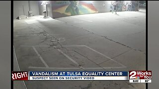 Vandalism at Tulsa Equality Center