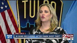 Tulsa Police Department recovers 14 guns after theft