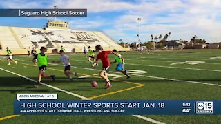 High school winter sports will now be able to start on January 18