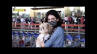 Gauahar Khan, Karishma Tanna, Dhvani Bhanushali & Ram Charan Snapped at the Airport | SpotboyE