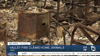 Valley Fire claims Jamul woman's home, beloved animals