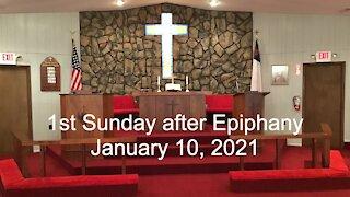 1st Sunday after Epiphany Worship - January 10, 2021