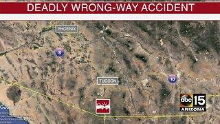 4 killed in Arizona head-on crash involving wrong-way driver