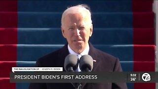 Examining President Biden's first address