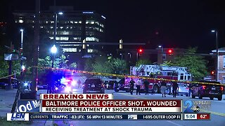 Baltimore Police officer injured in Southeast Baltimore shooting, suspect fatally wounded