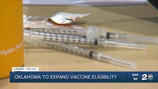 Oklahoma to expand vaccine eligibility