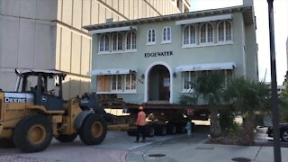 Historic Edgewater building moved through downtown West Palm Beach