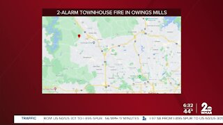 Family displaced after overnight fire in Owings Mills