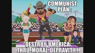 BIDEN'S COMMUNIST AGENDA TO DESTROY AMERICA THRU MORAL DEPRAVITY! TRUMP: NEW UNITED STATES REPUBLIC!
