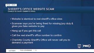 Sheriffs Office website scam