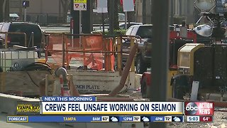 Construction workers facing dangers on the Selmon Extension Project