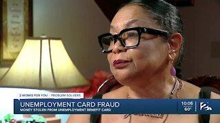 Unemployment card fraud