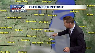 Showers dissipate Thursday afternoon