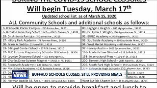 Buffalo Public Schools to provide meals during month-long closing