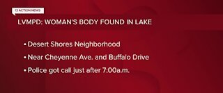 LVMPD: Woman's body found in lake