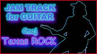 449 TEXAS ROCK Jam Track in Cmaj for GUITAR