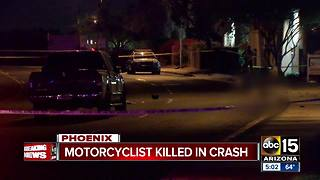 Man killed in Phoenix motorcycle crash