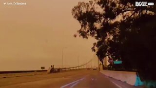California wildfires change the color of the sky