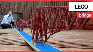 Dedicated dad builds replica of iconic Forth Rail Bridge - made out of 3,000 Lego bricks