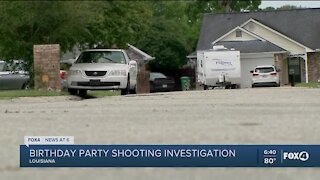 Six wounded in shooting at child's birthday party in Louisiana