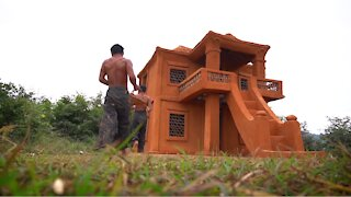 Building A Modern Mud House Construction