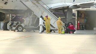 VIDEO: HAZMAT crews work JetBlue plane at Palm Beach International Airport